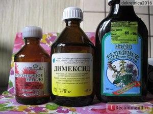 Маска против выпадения волос с димексидом