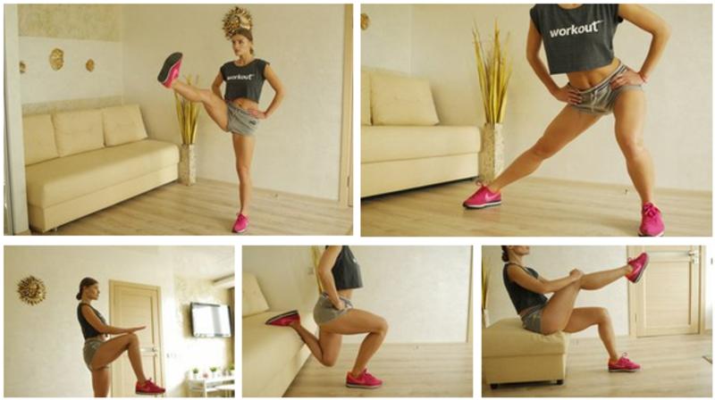 Упражнения для похудения коленей и ляшек
