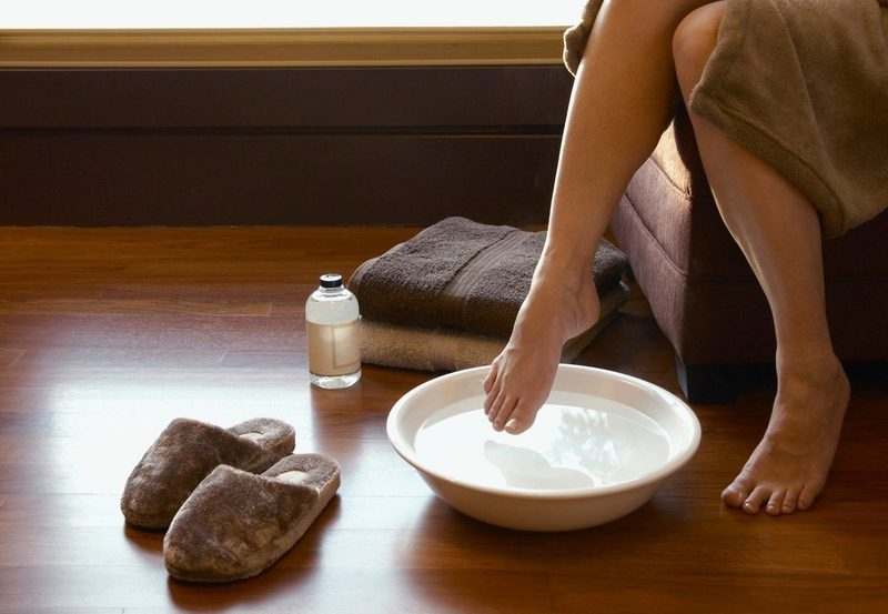 Ванночки для ног с уксусом в домашних условиях